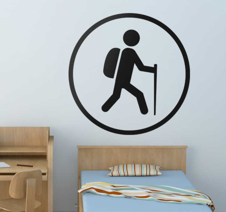 Hiking Sign Wall Sticker