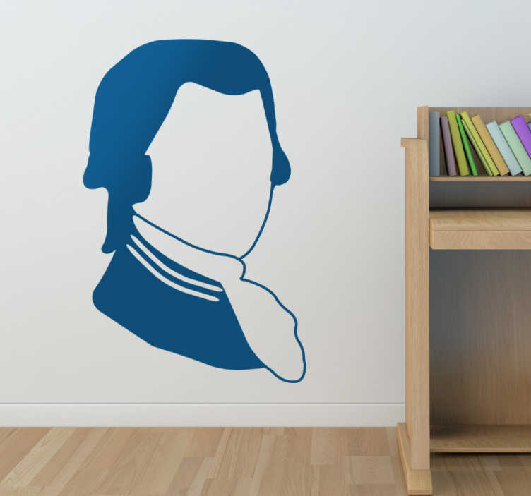 TenStickers. Mozart Silhouette Wall Sticker. A silhouette wall sticker of the famous Austrian classical musician and composer; Mozart.
