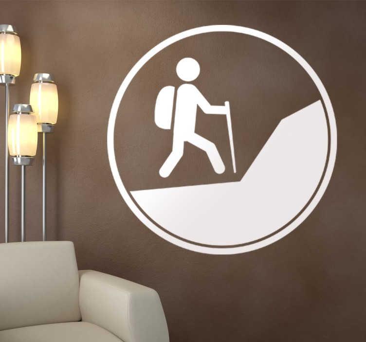 vinilo decorativo icono ecursionista