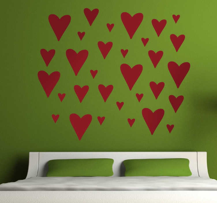 TenStickers. Heart Stickers. A romantic love heart decal to add some warmth and harmony into your home.