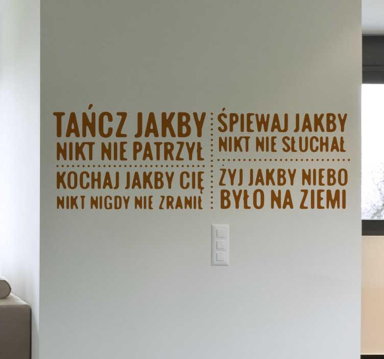 TenStickers. Naklejka z napisami motywacyjna. Naklejki na ścianę z napisami. Naklejki motywacyjne na ściane do przyklejenia w pokoju nastolatków, salonie czy na każdej gładkiej powierzchni.