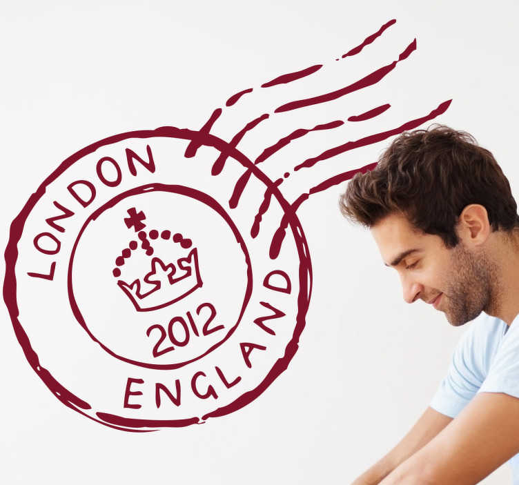 Sticker decorativo timbro London England