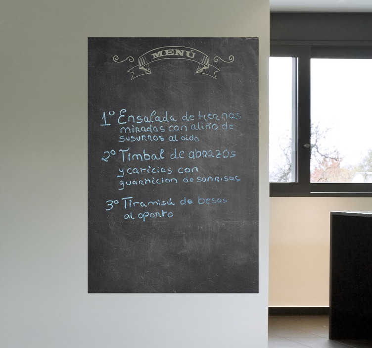 TENSTICKERS. 黒板のステッカー. あなたのレストランやカフェに何があるのかを教えてくれるレストランの黒板ステッカー!このカフェの壁のステッカーであなたの顧客を興奮させる。