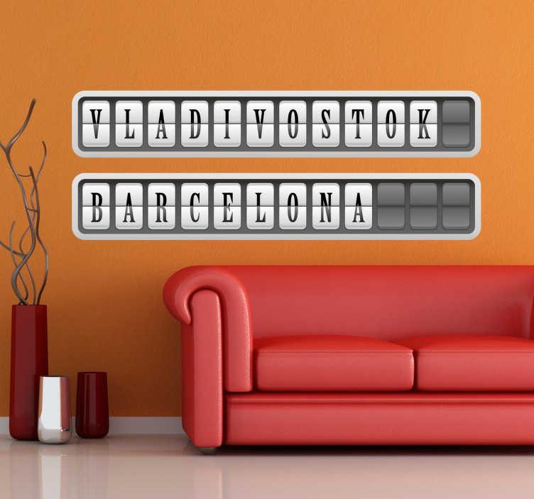 Wall sticker personalizzabile  cartello aeroporto