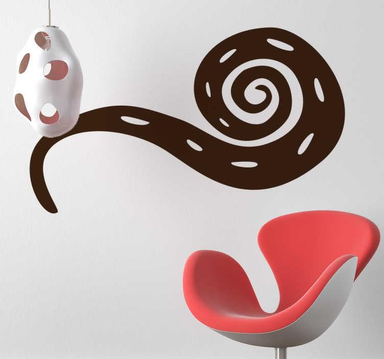TenStickers. Adesivo de parede cobra abstrata. Adesivos de parede - ilustração abstrata de uma cobra com um estilo africano. Disponível em 50 cores e em vários tamanhos.