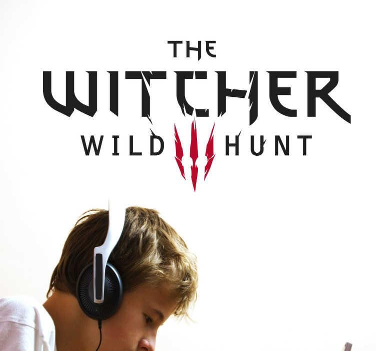 TenVinilo. Vinilo decorativo the witcher. Pegatina decorativa de uno de los juegos más solicitados. The witcher es un videojuego de acción que personalizará tu hogar de forma exclusiva.