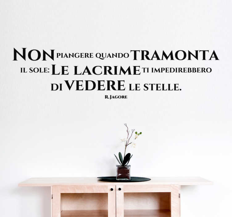 Wall sticker Non Piangere