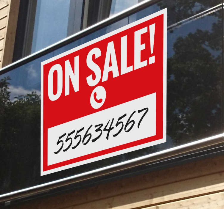 TenStickers. For Sale Sign Sticker. A simple sticker to advertise that you or your business is currently having a sale.