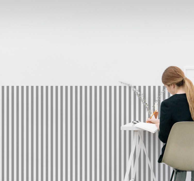 TenStickers. Naklejka na ścianę paski. Dekoracyjna naklejka na ścianę przedstawiająca cienkie, równe paski. Naklejka, która idealnie zastąpi każdą tapetę.