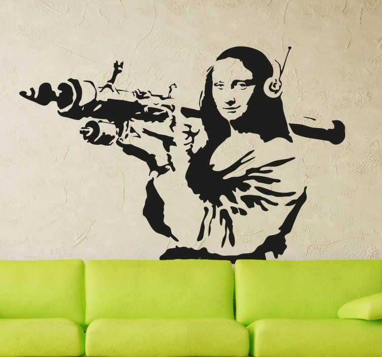 Vinilo graffiti Banksy Mona Lisa misil