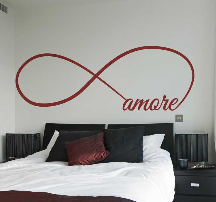 TenStickers. Wall Sticker Infinito Amore. Wall sticker decorativo che raffigura il simbolo dell'infinito con la scritta amore.