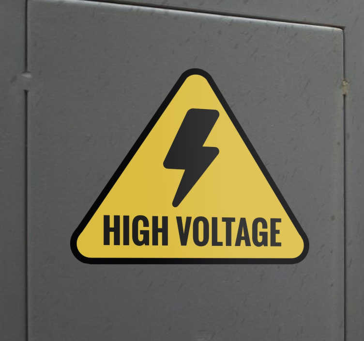 TenStickers. High Voltage Sign Sticker. A practical sticker to show that there is a high voltage charge near by that should be avoided.