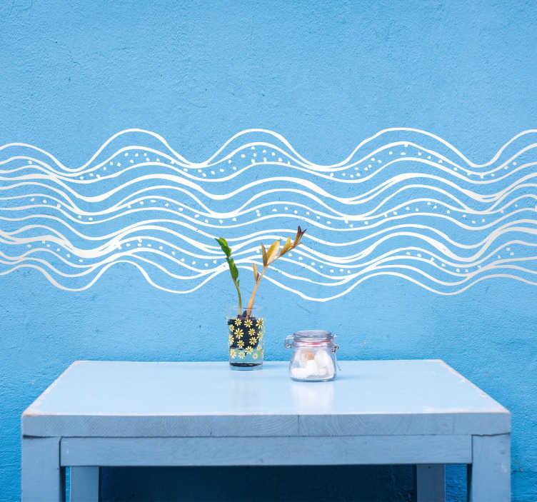 Vinilo decorativo abstracto oleaje