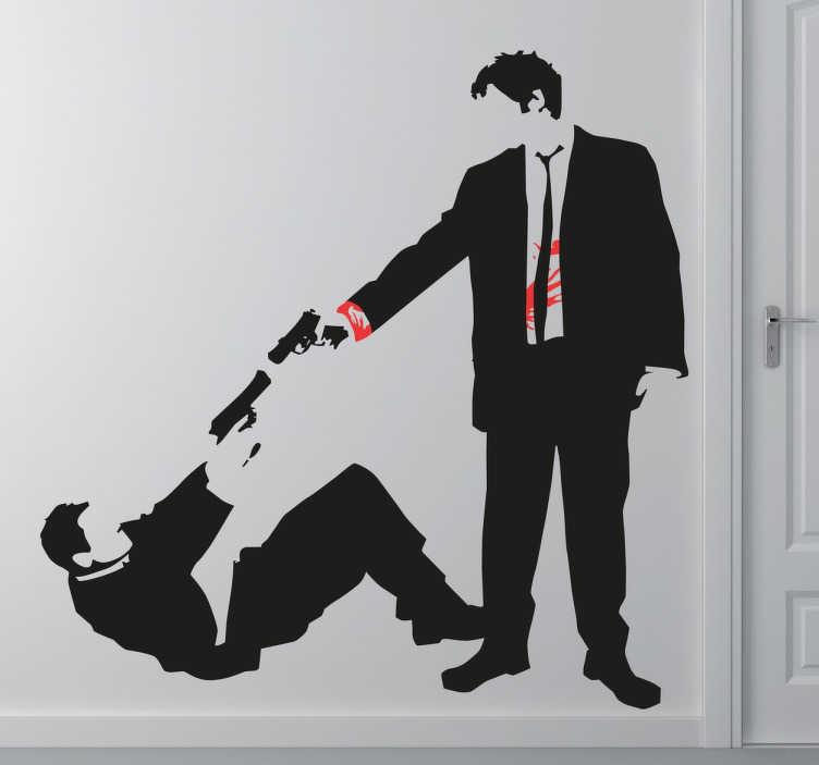 Vinilo decorativo disparo Reservoir Dogs