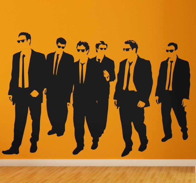 TenVinilo. Vinilo decorativo Reservoir Dogs. Vinilos de cine con una representación de los actores principales de la famosa opera prima de Quentin Tarantino.