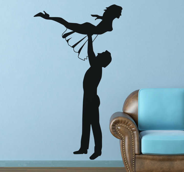 TenStickers. Dirty Dancing Silhouette Sticker. Dance themed sticker with the representation of the main scene of your favourite movie starring Patrick Swayze.
