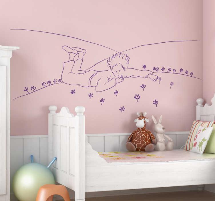 Naklejka na ścianę Mały Książę na łące