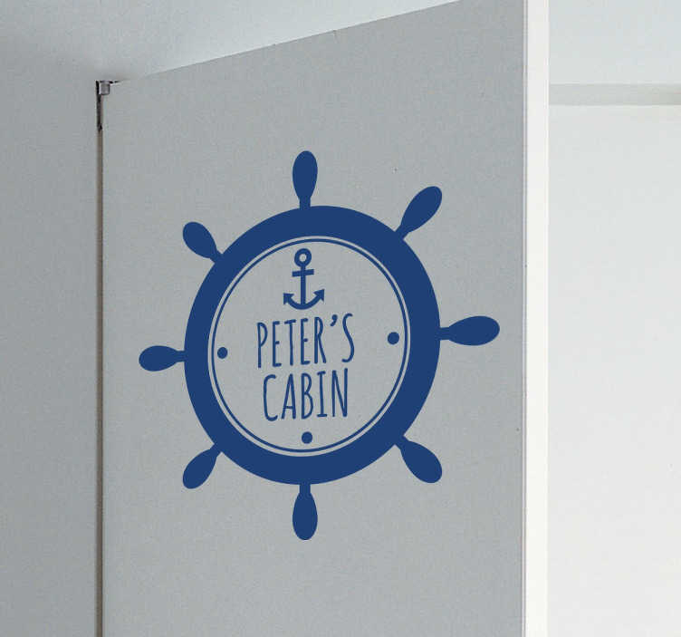 TenStickers. Personalised Sailor´s Cabin Sticker. Personalised children´s sticker for your kid´s bedroom. This sailor´s decal will make your child feel special. They will be the captain of their own room!