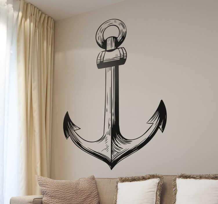 Vinilos marineros ilustración ancla