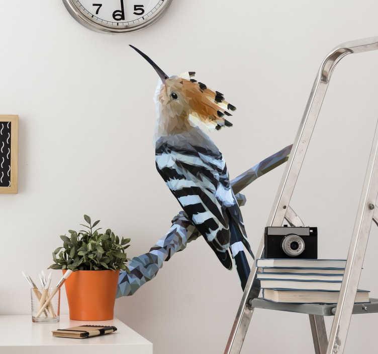 TenStickers. Vogel Muursticker. Muursticker van een vogel waarmee u elke kamer van uw woning kunt versieren. Afmetingen aanpasbaar. Express verzending 24/48u.