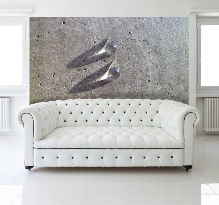 TenStickers. Two Marbles Wall Mural. Photo Murals - Original photography great for creating a distinctive look in any room.