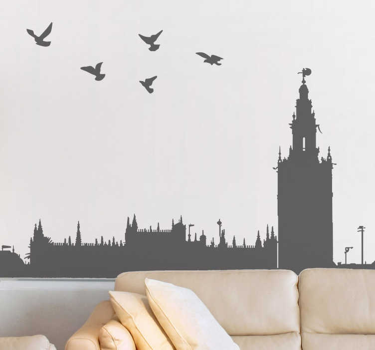Sticker silhouette Séville