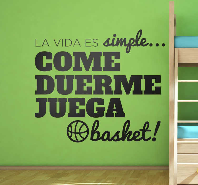 Vinilos de baloncesto la vida es simple