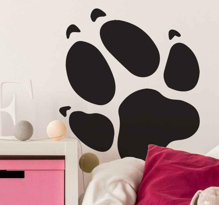 Naklejka na ścianę łapa psa