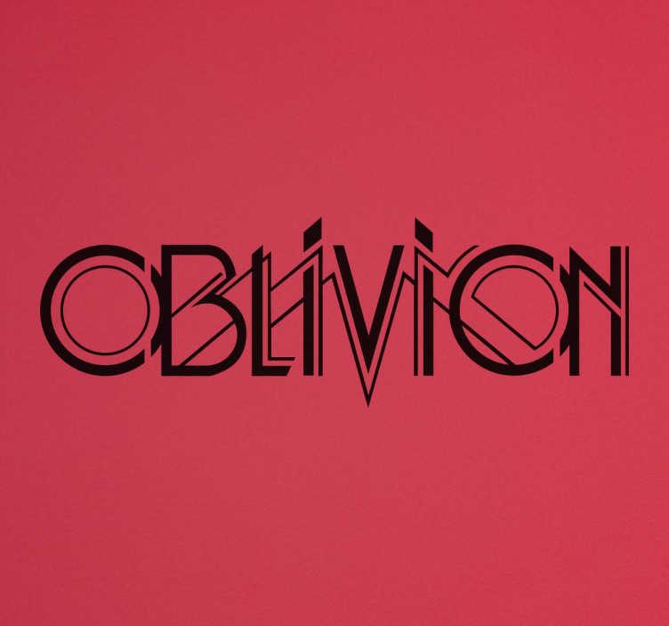 Vinilo decorativo Oblivion