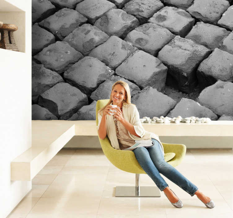 TenStickers. Cobblestone Flooring Wall Sticker. A creative sticker of cobblestone flooring to decorate your walls. A fantastic decal to transform any room into a stylish one.