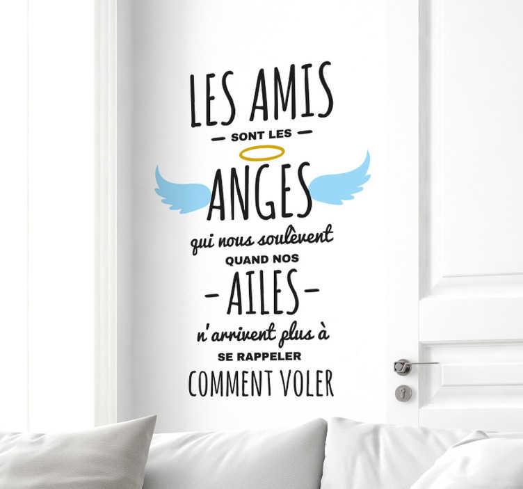 Sticker les amis sont les anges