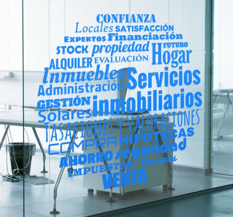 TenVinilo. Vinilo para negocios conceptos inmobiliaria. Vinilos para negocios y agencias de servicios inmobiliarios con un diseño original que comprende una serie de conceptos relacionados.