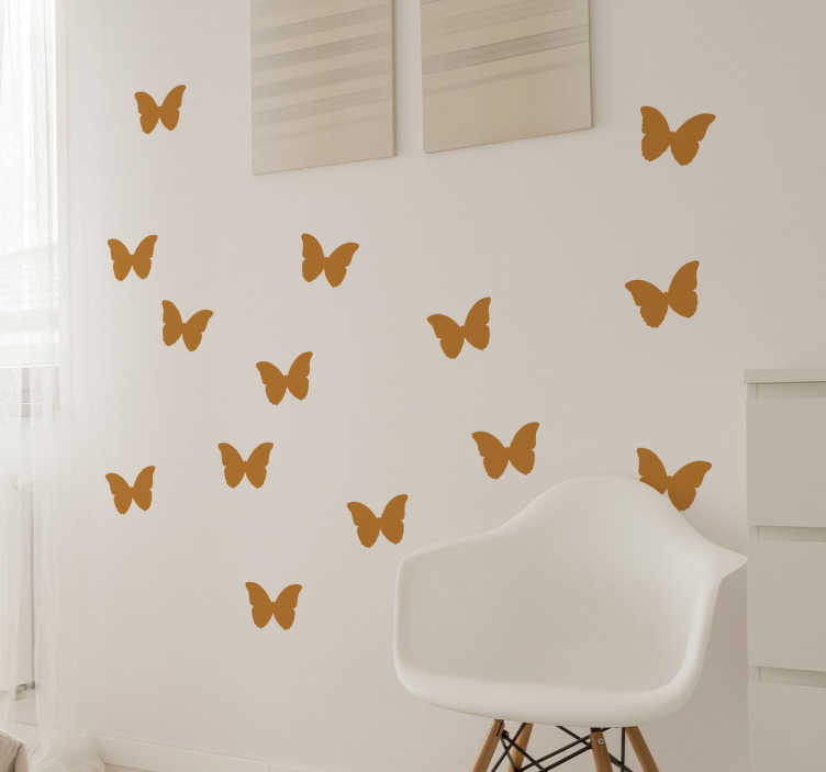 TenStickers. Butterfly Stickers Set. A set of stickers with simple and stylish butterfly designs to decorate any room in your home.