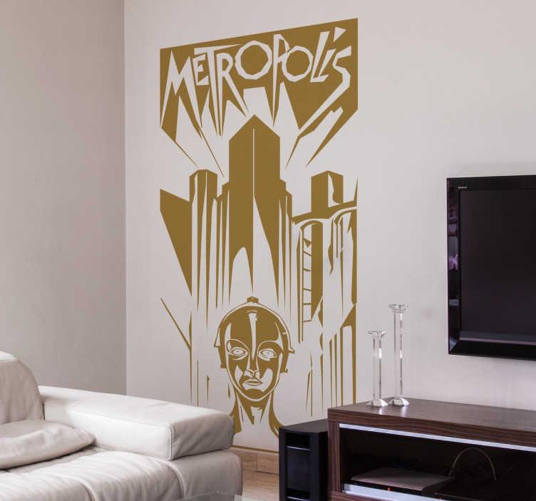 Vinilo decorativo cartel Metrópolis