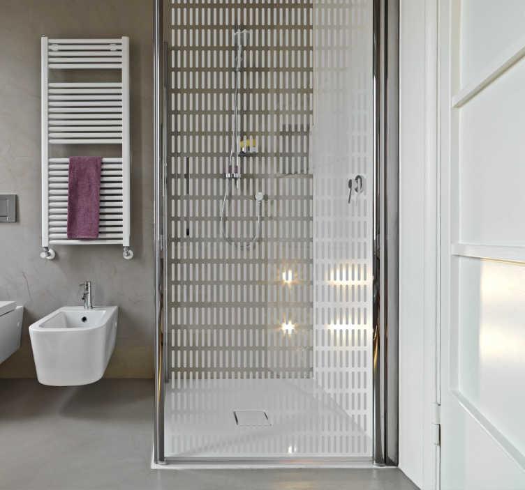 TenStickers. Naklejka na prysznic paski. Nowoczesna naklejka na prysznic z wzorem w paski zapewniająca odrobinę prywatności.