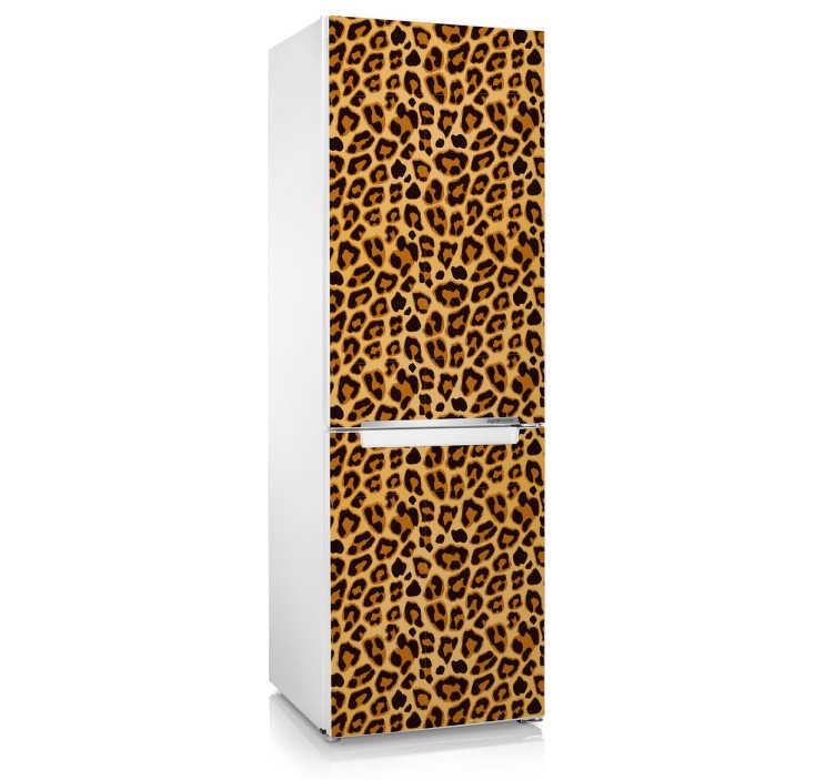 Adesivo frigo texture leopardo