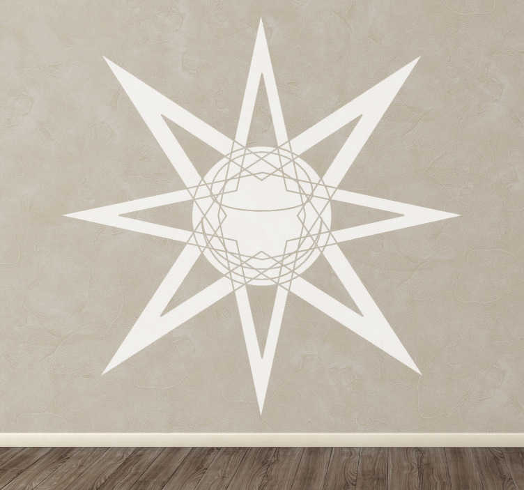 TenStickers. Illuminating Star Decal. A design of an illuminating sun with lines to make your home original! Cool decal from our collection of star wall stickers.