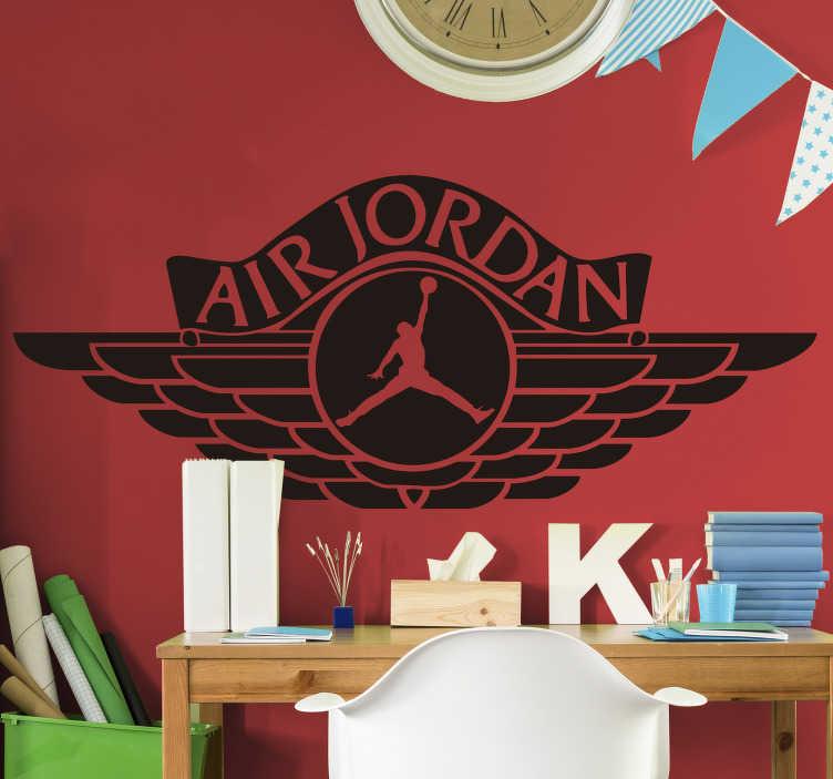 TenVinilo. Vinilo decorativo air jordan. Vinilo decorativo ideal para los entusiastas del baloncesto. Si te gusta el básquet y la NBA, seguro que quieres esta pegatina decorativa en homenaje a Michael Jordan.