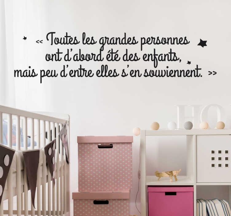 Sticker citation Saint-Exupéry