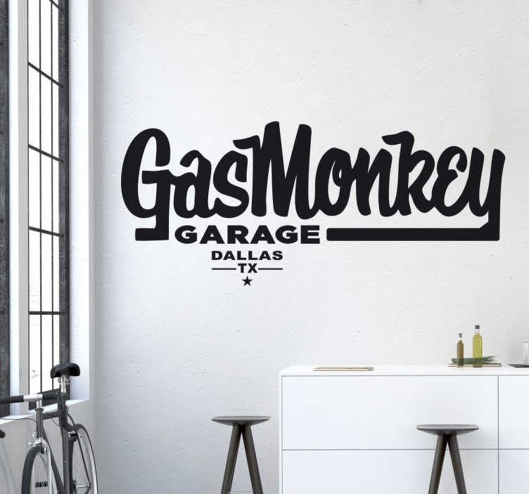 Vinilo decorativo Gas Monkey
