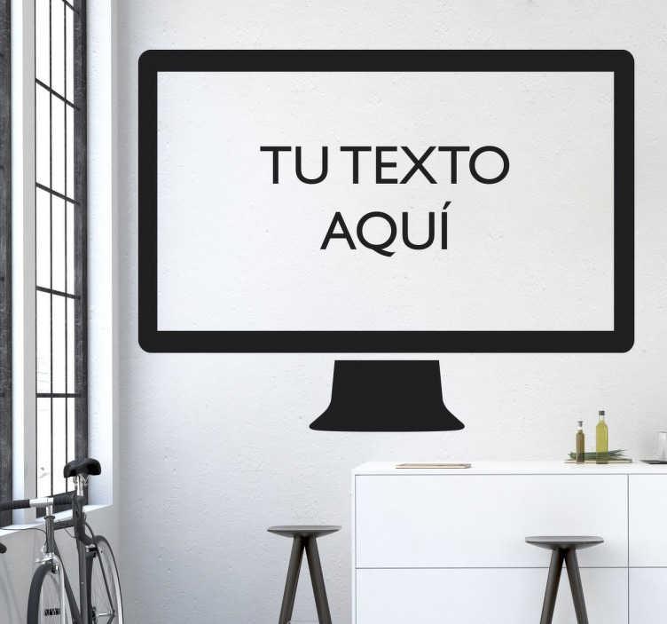 TenVinilo. Vinilo pantalla ordenador personalizable. Vinilo decorativo pantalla de ordenador personalizable para que puedas colocar el texto que más desees en el interior de la pantalla.