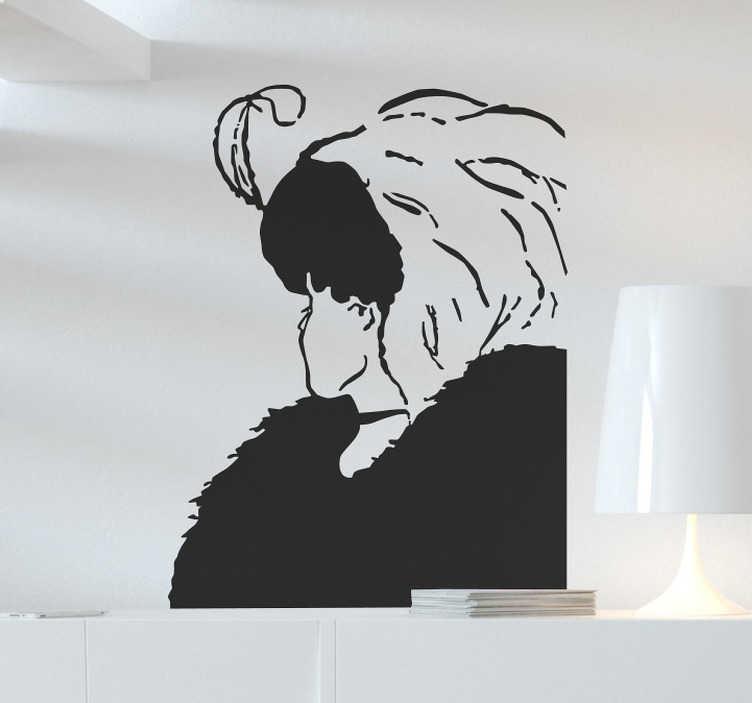 TenStickers. Sticker femme âgée ou jeune. Un sticker pour créer une illusion d'optique amusante sur vos murs ! Idéal pour ajouter une touche d'originalité à votre maison.
