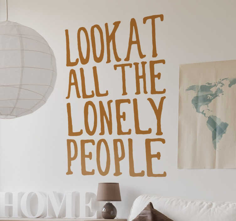 TenStickers. Eleanor Rigby Lyrics Wall Sticker. A wall quote sticker with the lyrics from the famous Beatles song; Eleanor Rigby.