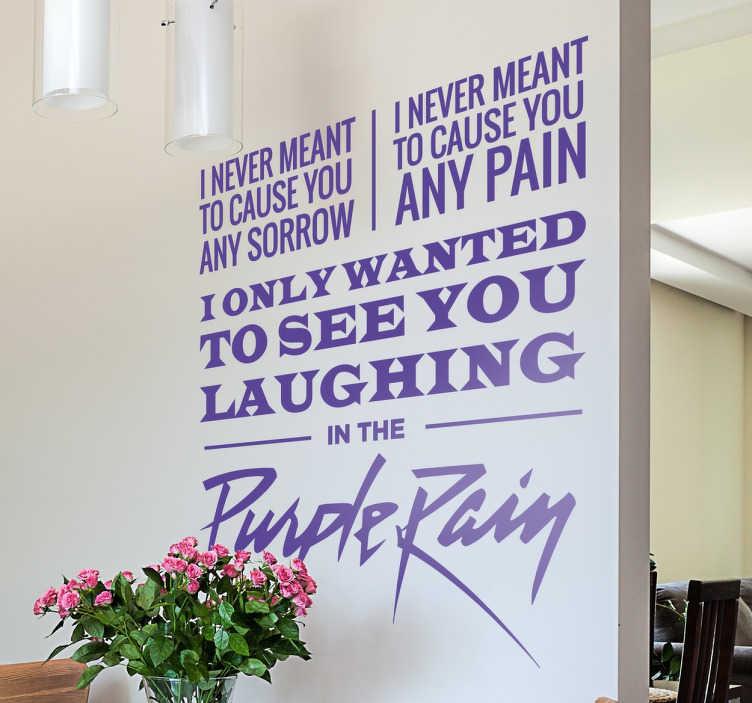 Sticker paroles Purple Rain Prince