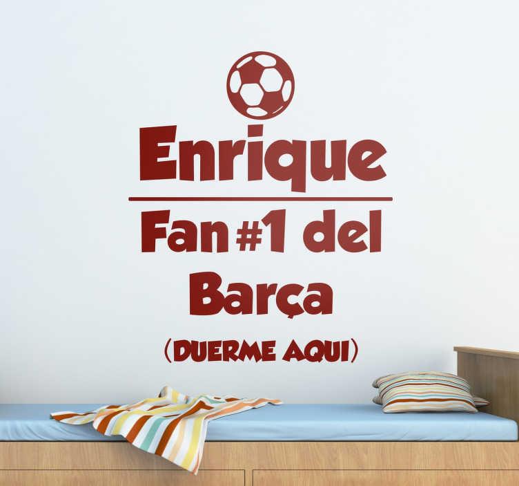Naklejka personalizowana Fan Football'u