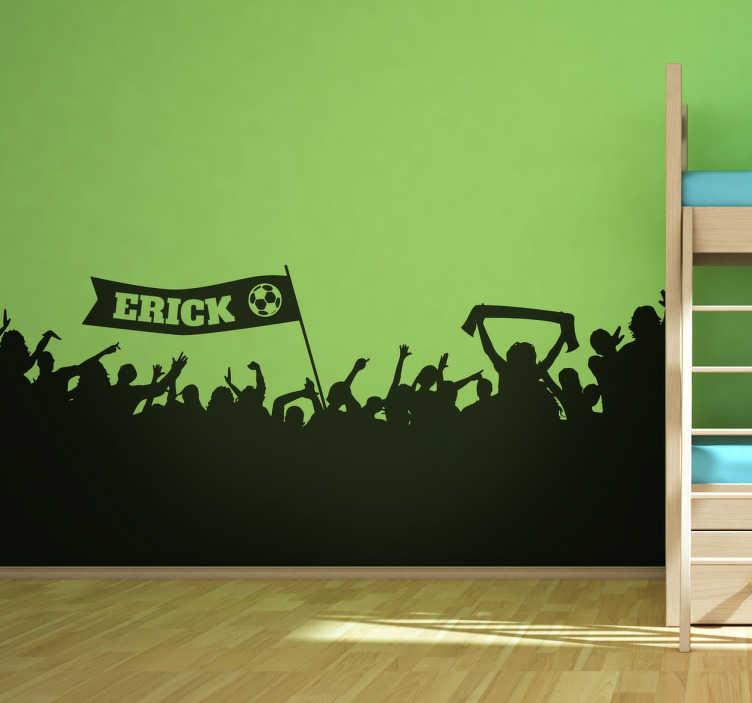 TenStickers. Wallstickers Fodboldfans væg. Har du en fodboldfan derhjemme? Leder du efter en original og sjov måde at dekorere deres værelse på?