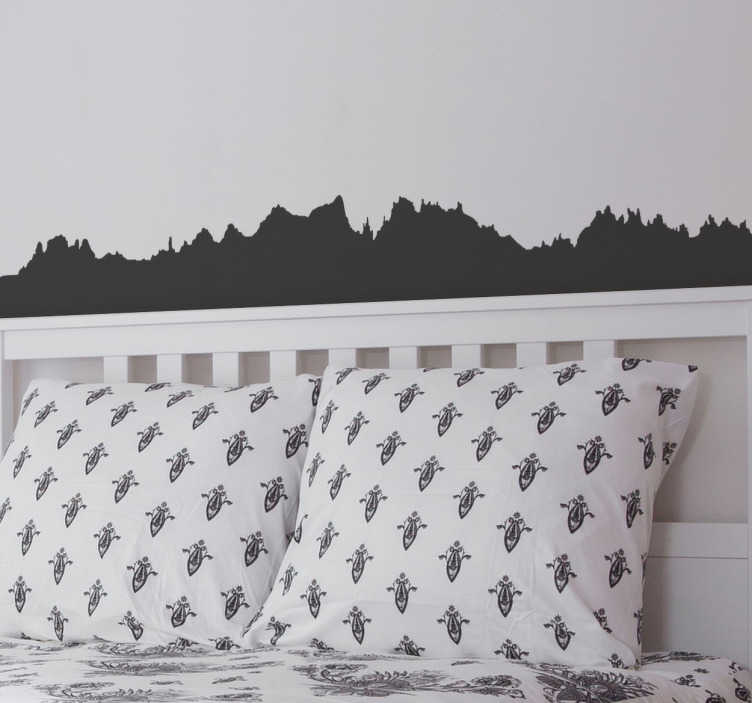 TenStickers. Montserrat city skyline silhouette wall decal. A beautiful skyline wall sticker of Montserrat.  It reveals the city beautiful skyline in silhouette style. It is available in any required size.