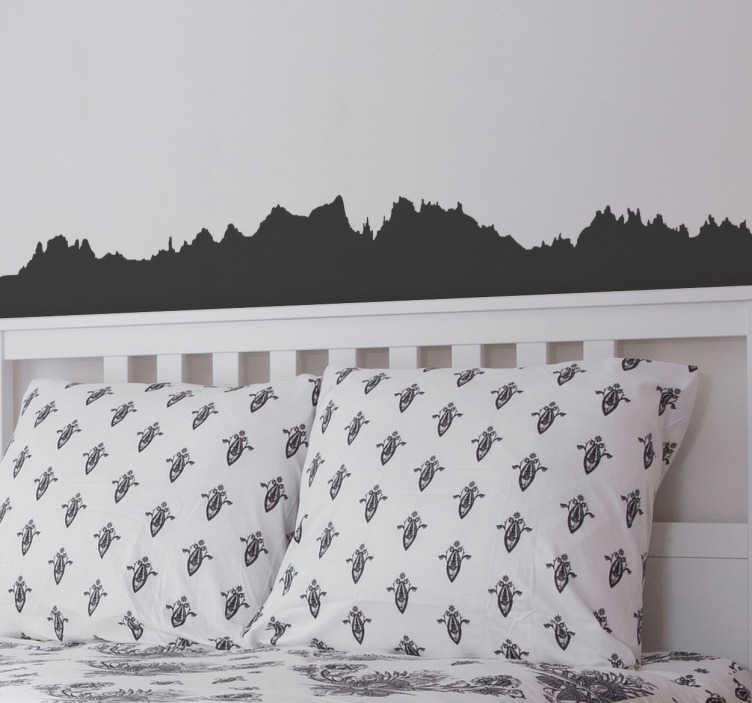 TenStickers. Sticker Montserrat silhouette. Une collection d'autocollants avec le cadre rural de Montserrat idéal pour décorer toute pièce de votre maison.