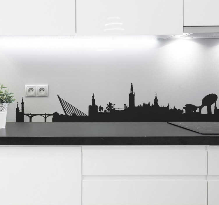 TenStickers. Seville Skyline Wall Sticker. From our collection of skyline wall stickers, the silhouette profile of the Spanish city of Seville.