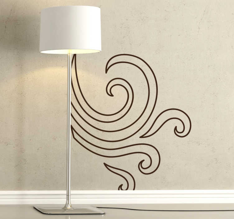 TenStickers. Wind Sticker. Decorative sticker of wind. Brilliant decal to give your home a new look and decorate any room.